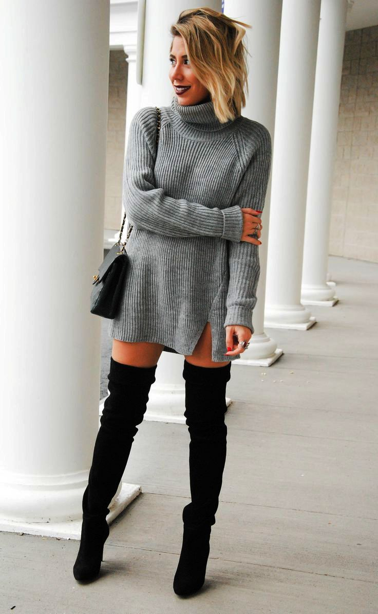 Sweater Dress Ideas For Women inspiredluv (15)