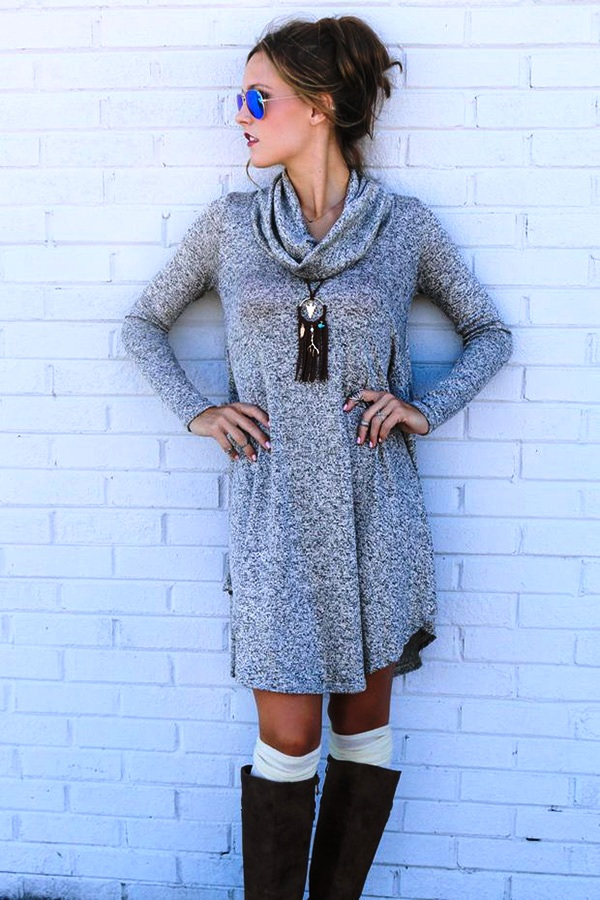 Sweater Dress Ideas For Women inspiredluv (30)