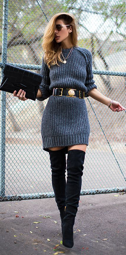 Awesome Sweater Style Outfit Ideas inspiredluv (10)