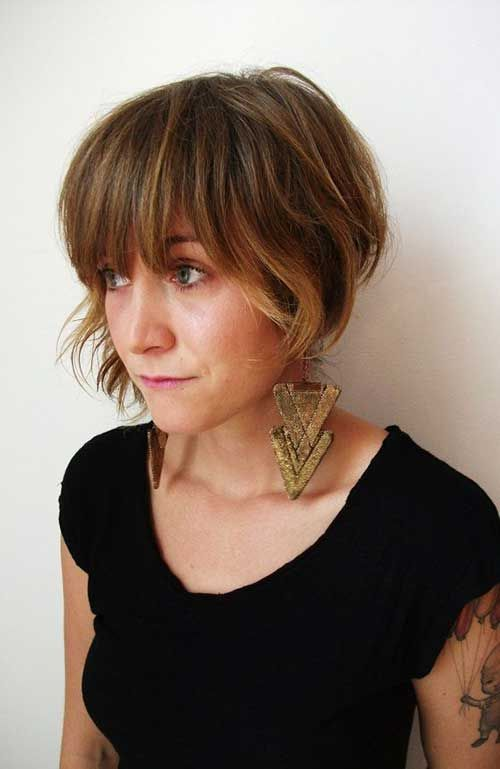 Bob Hairstyles With Bangs ispiredluv (34)