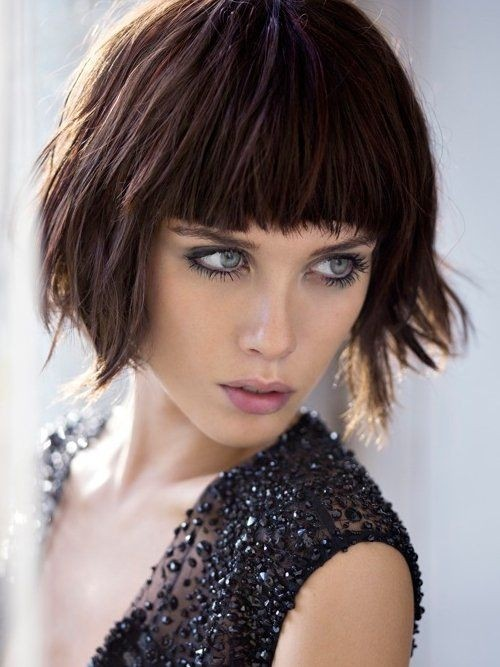 Bob Hairstyles With Bangs ispiredluv (6)