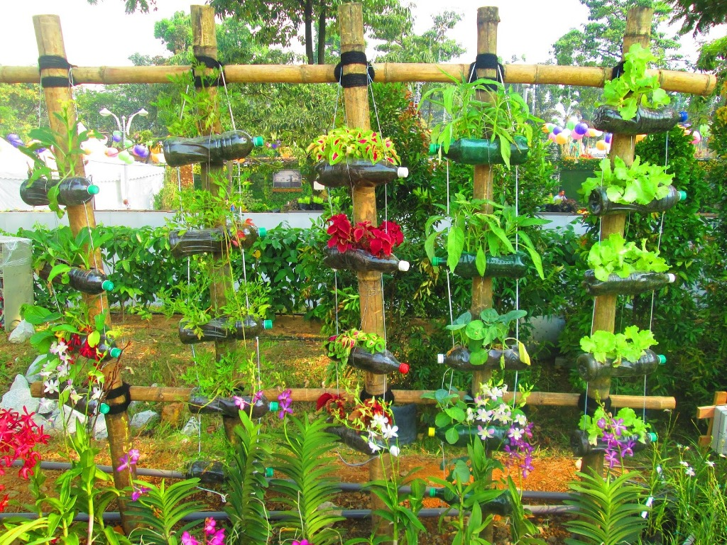 Recycling Plastic Bottles for Garden Use