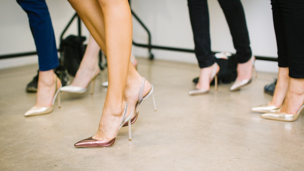 Only wear heels that you can comfortably walk in.