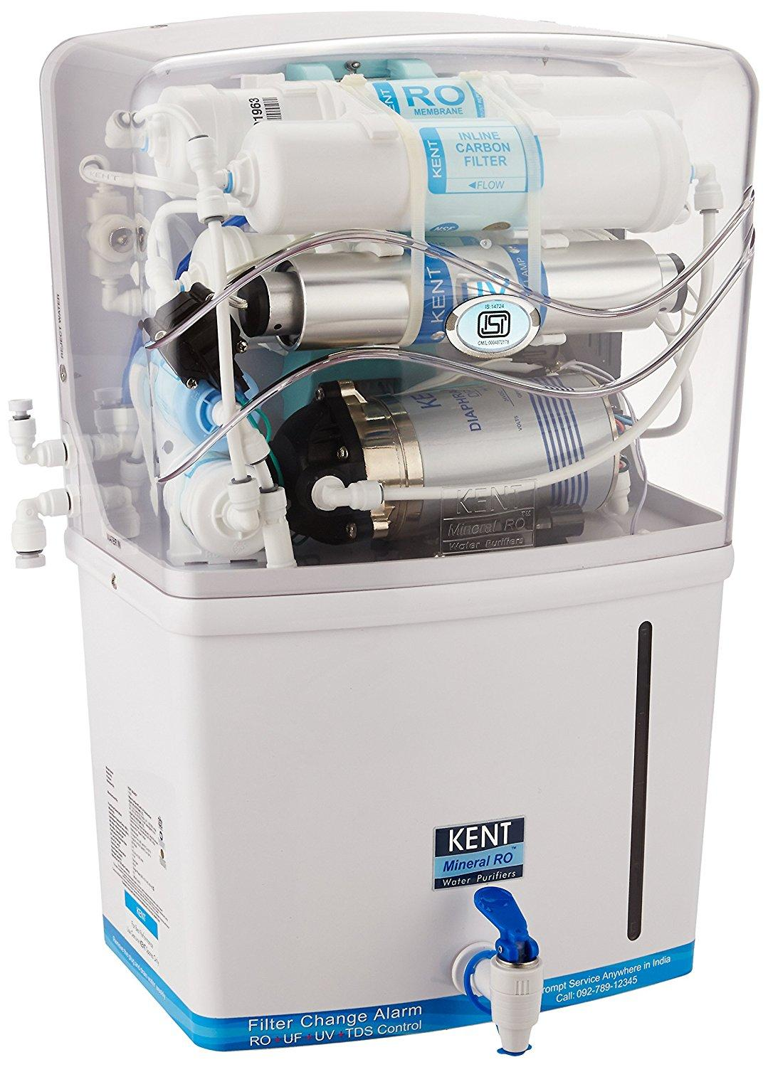 Kent Grand 8-Litre Wall Mountable RO+UV+UF+TDS
