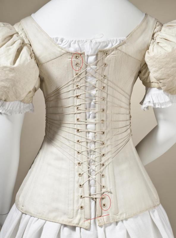 Lace-up corset or fastener